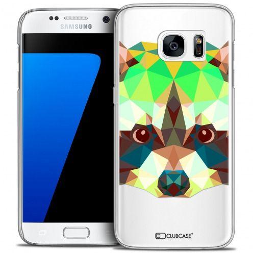 Coque Crystal Galaxy S7 Extra Fine Polygon Animals - Raton Laveur