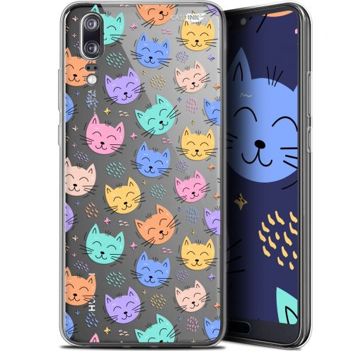 """Coque Gel Huawei P20 (5.8"""") Extra Fine Motif -  Chat Dormant"""