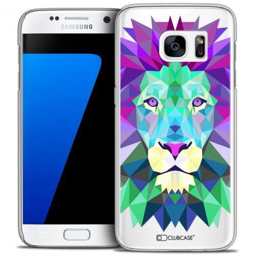 Coque Crystal Galaxy S7 Extra Fine Polygon Animals - Lion