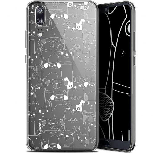"Coque Gel Huawei P20 (5.8"") Extra Fine Motif -  Chien Blanc"