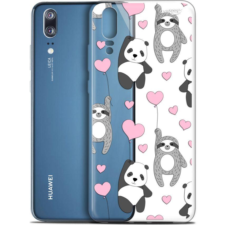 """Coque Gel Huawei P20 (5.8"""") Extra Fine Motif - Panda'mour"""