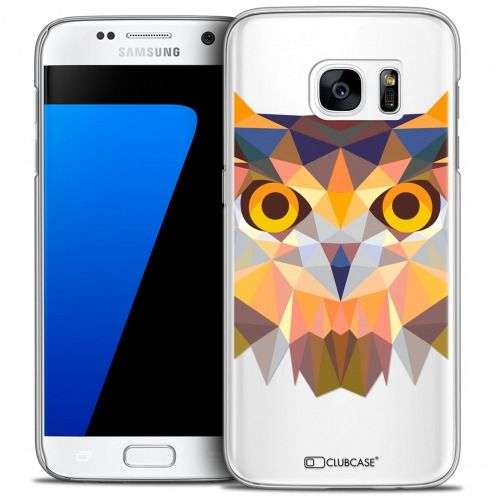 Coque Crystal Galaxy S7 Extra Fine Polygon Animals - Hibou