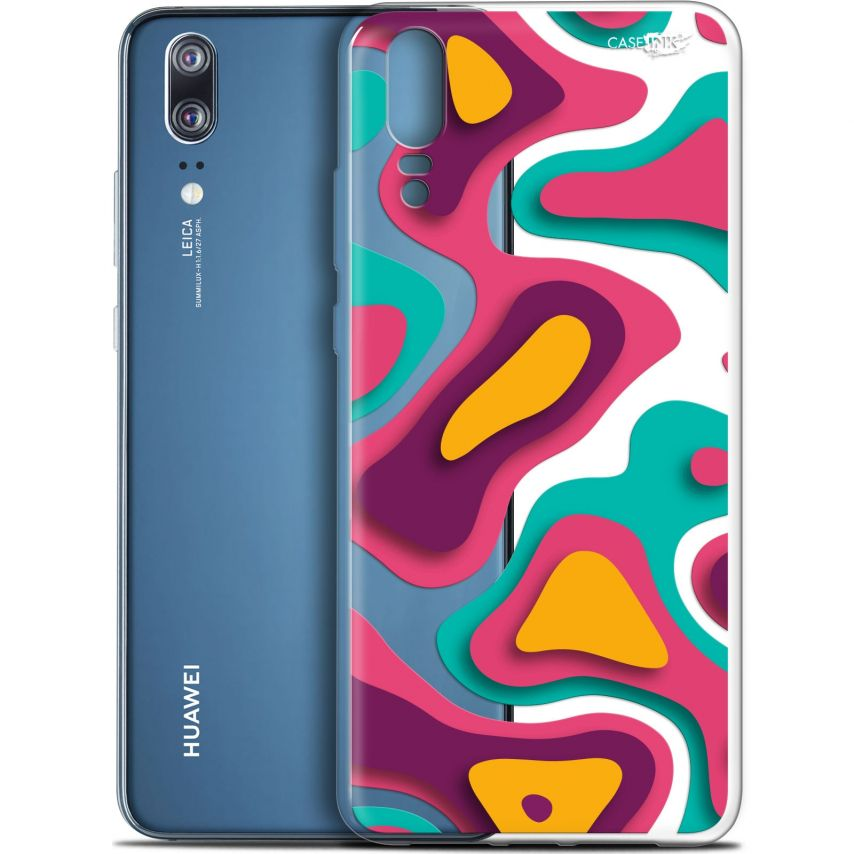 "Coque Gel Huawei P20 (5.8"") Extra Fine Motif - Popings"