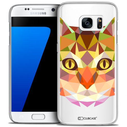 Coque Crystal Galaxy S7 Extra Fine Polygon Animals - Chat