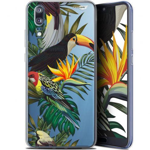 """Coque Gel Huawei P20 (5.8"""") Extra Fine Motif -  Toucan Tropical"""