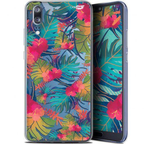 """Coque Gel Huawei P20 (5.8"""") Extra Fine Motif -  Couleurs des Tropiques"""