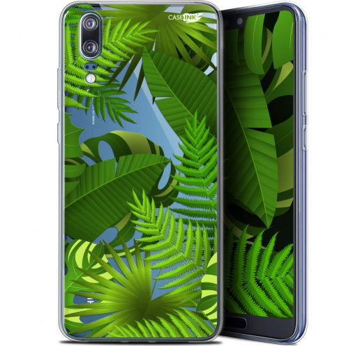 "Coque Gel Huawei P20 (5.8"") Extra Fine Motif -  Plantes des Tropiques"