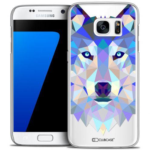 Coque Crystal Galaxy S7 Extra Fine Polygon Animals - Loup