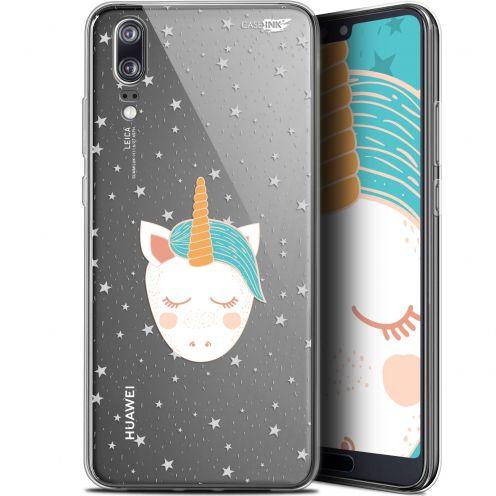 """Coque Gel Huawei P20 (5.8"""") Extra Fine Motif -  Licorne Dors"""