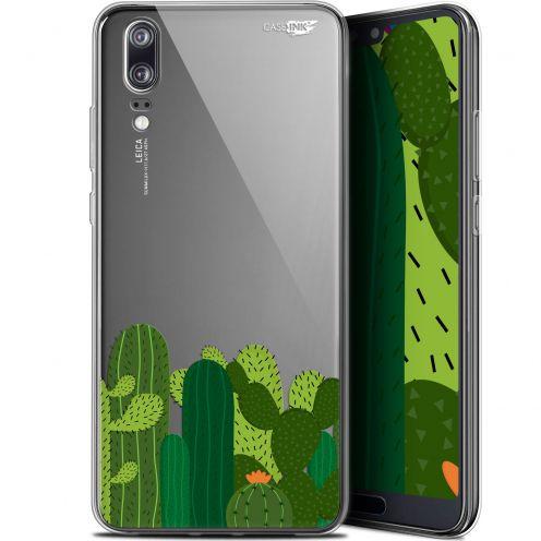 "Coque Gel Huawei P20 (5.8"") Extra Fine Motif -  Cactus"