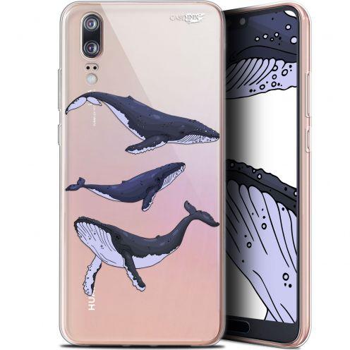 "Coque Gel Huawei P20 (5.8"") Extra Fine Motif -  Les 3 Baleines"