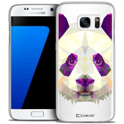 Coque Crystal Galaxy S7 Extra Fine Polygon Animals - Panda