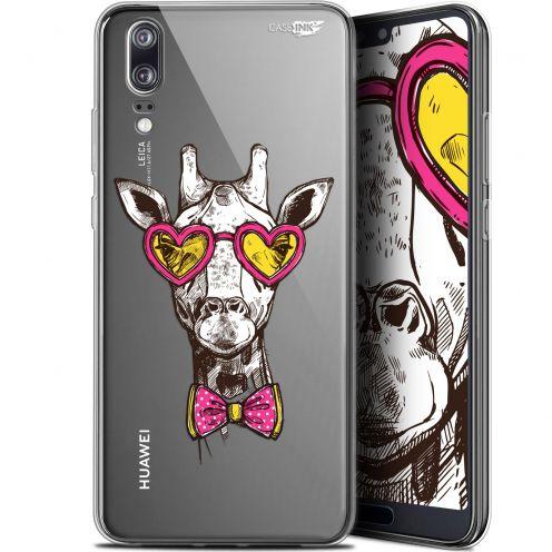 "Coque Gel Huawei P20 (5.8"") Extra Fine Motif - Hipster Giraffe"