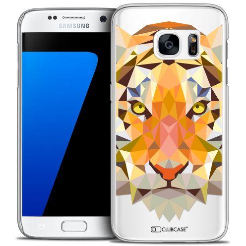 Coque Crystal Galaxy S7 Extra Fine Polygon Animals - Tigre