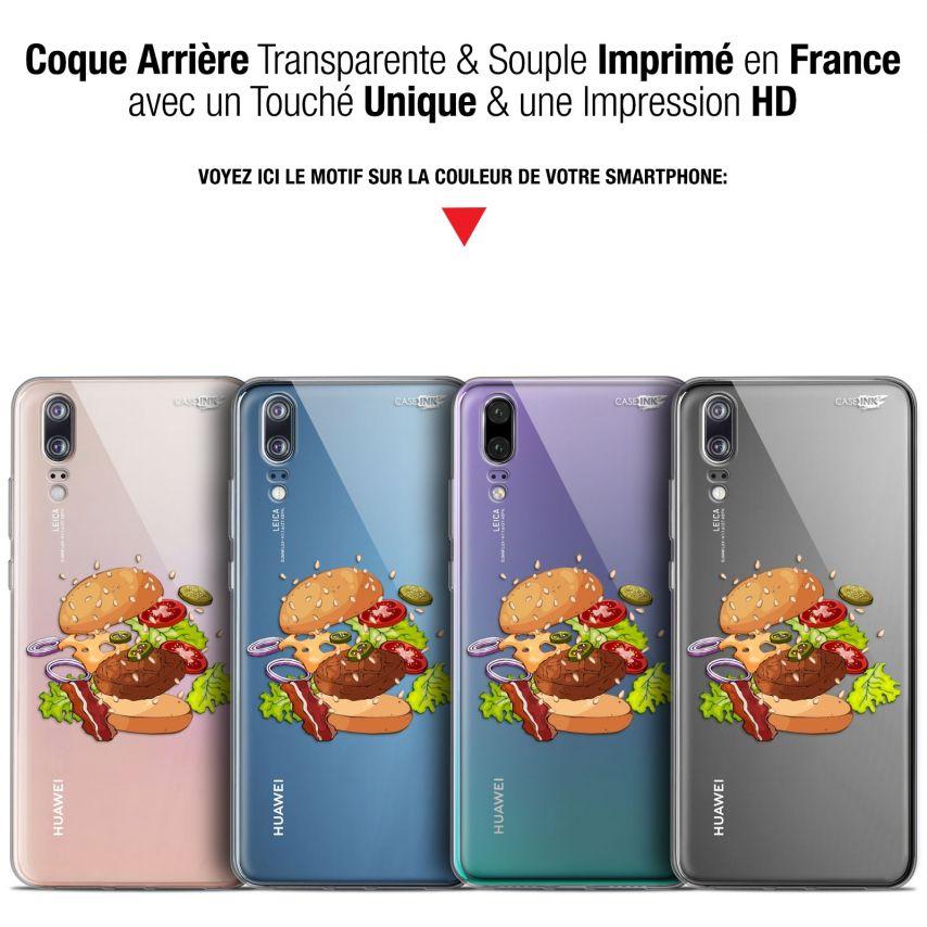 "Coque Gel Huawei P20 (5.8"") Extra Fine Motif - Splash Burger"
