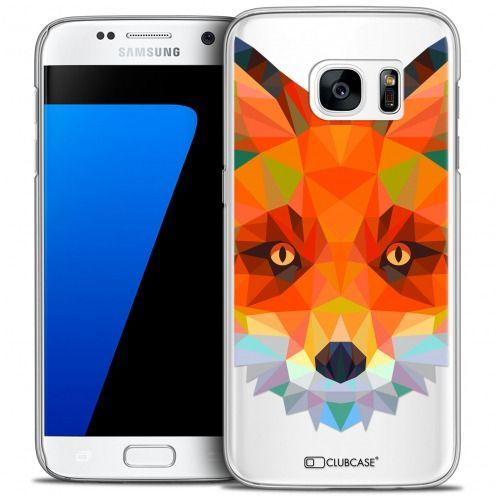 Coque Crystal Galaxy S7 Extra Fine Polygon Animals - Renard