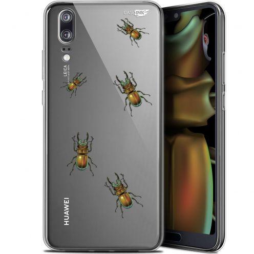 "Coque Gel Huawei P20 (5.8"") Extra Fine Motif -  Petits Scarabés"