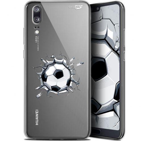 "Coque Gel Huawei P20 (5.8"") Extra Fine Motif -  Le Balon de Foot"