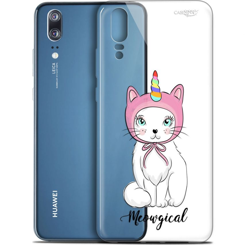 "Coque Gel Huawei P20 (5.8"") Extra Fine Motif - Ce Chat Est MEOUgical"