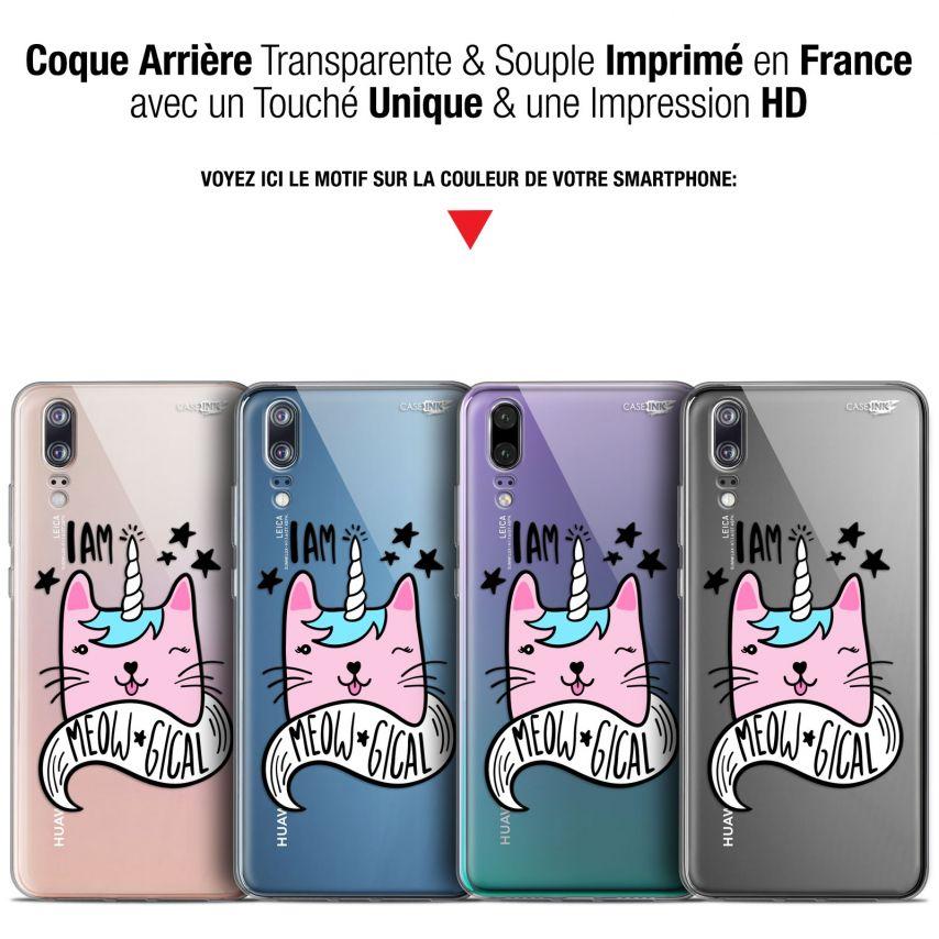 """Coque Gel Huawei P20 (5.8"""") Extra Fine Motif - I Am MEOUgical"""