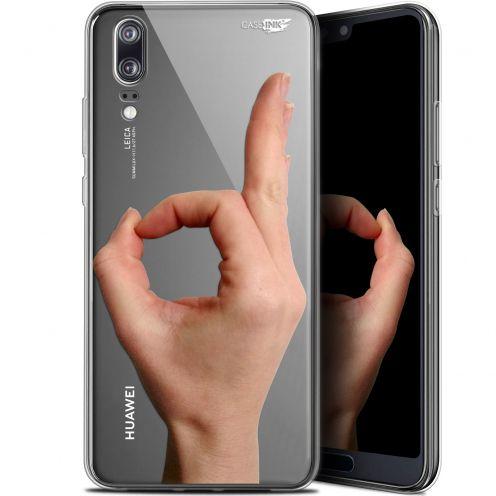 """Coque Gel Huawei P20 (5.8"""") Extra Fine Motif -  Le Jeu du Rond"""