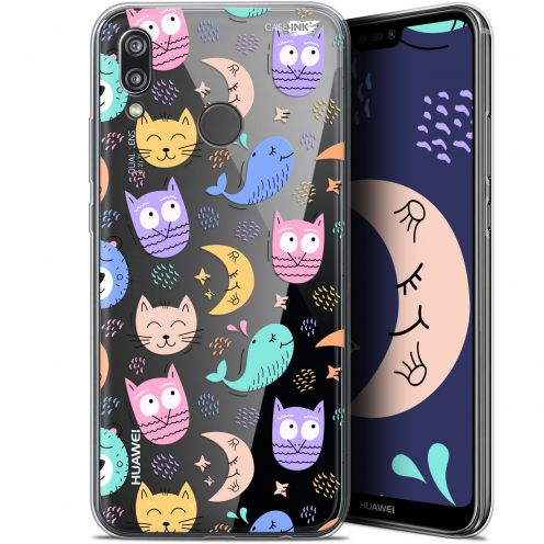 "Coque Gel Huawei P20 Lite (5.84"") Extra Fine Motif -  Chat Hibou"