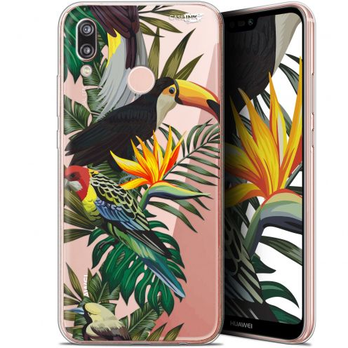 """Coque Gel Huawei P20 Lite (5.84"""") Extra Fine Motif - Toucan Tropical"""