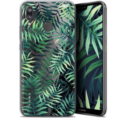 "Coque Gel Huawei P20 Lite (5.84"") Extra Fine Motif - Feuilles des Tropiques"