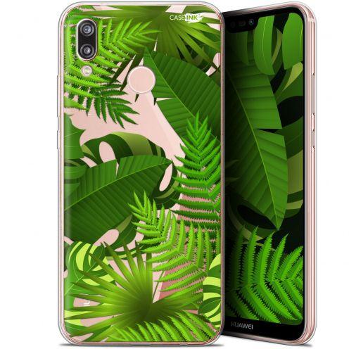 "Coque Gel Huawei P20 Lite (5.84"") Extra Fine Motif -  Plantes des Tropiques"