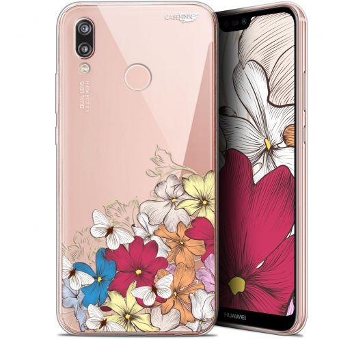 "Coque Gel Huawei P20 Lite (5.84"") Extra Fine Motif - Nuage Floral"