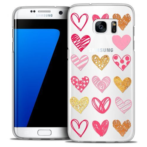Coque Crystal Galaxy S7 Edge Extra Fine Sweetie - Doodling Hearts