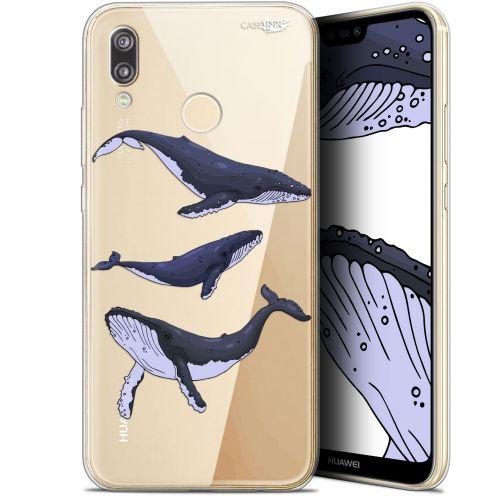 "Coque Gel Huawei P20 Lite (5.84"") Extra Fine Motif -  Les 3 Baleines"