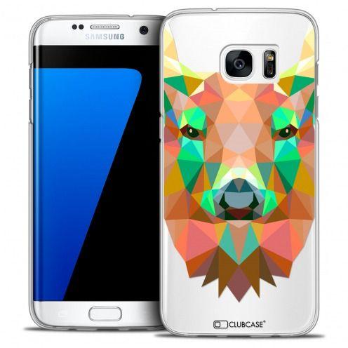 Coque Crystal Galaxy S7 Edge Extra Fine Polygon Animals - Cerf