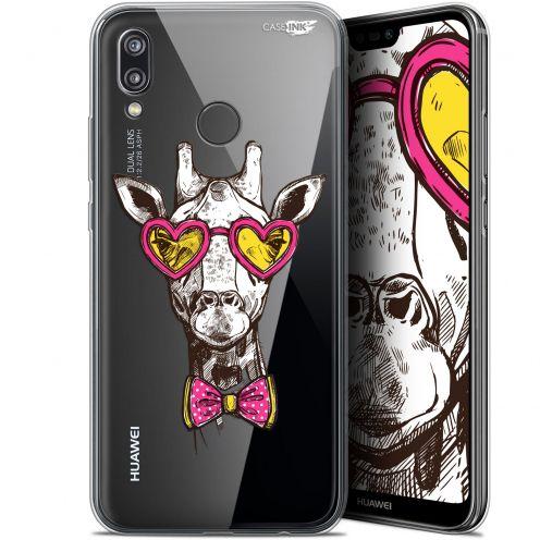 "Coque Gel Huawei P20 Lite (5.84"") Extra Fine Motif -  Hipster Giraffe"