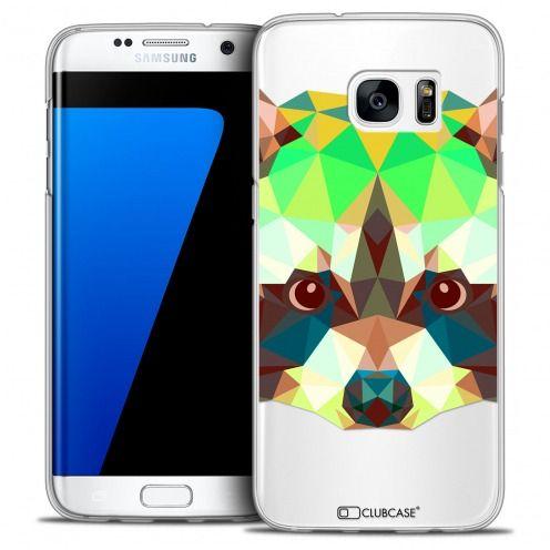 Coque Crystal Galaxy S7 Edge Extra Fine Polygon Animals - Raton Laveur
