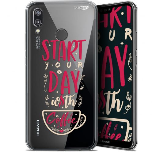 "Coque Gel Huawei P20 Lite (5.84"") Extra Fine Motif - Start With Coffee"