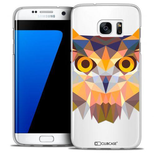 Coque Crystal Galaxy S7 Edge Extra Fine Polygon Animals - Hibou