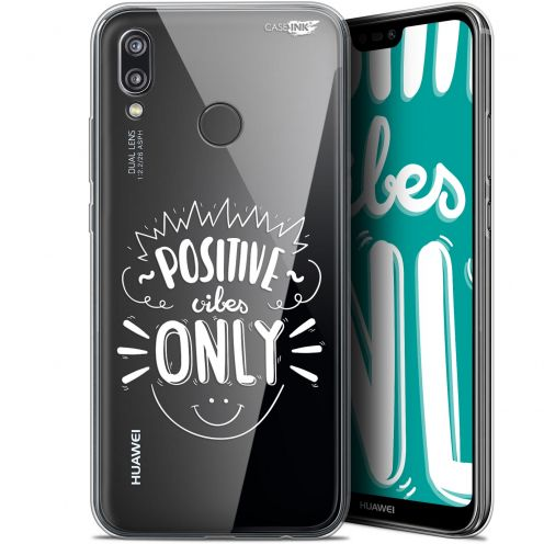 """Coque Gel Huawei P20 Lite (5.84"""") Extra Fine Motif -  Positive Vibes Only"""