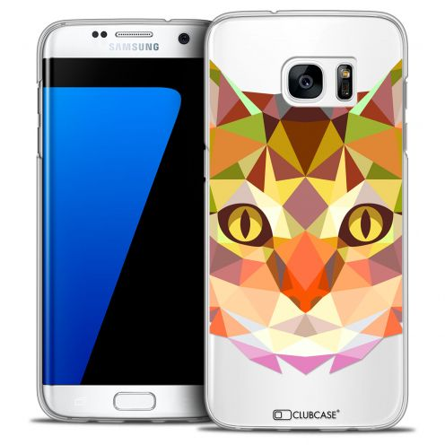 Coque Crystal Galaxy S7 Edge Extra Fine Polygon Animals - Chat