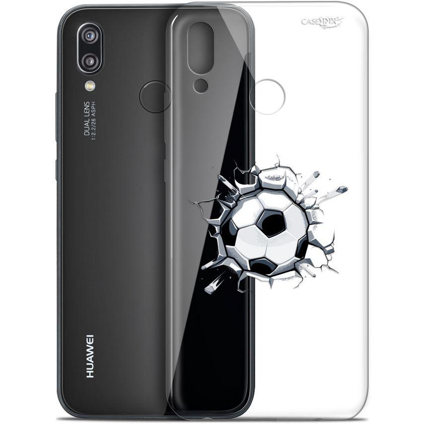 """Coque Gel Huawei P20 Lite (5.84"""") Extra Fine Motif - Le Balon de Foot"""