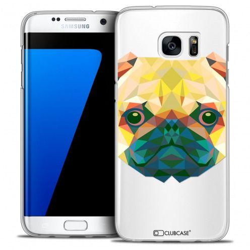 Coque Crystal Galaxy S7 Edge Extra Fine Polygon Animals - Chien
