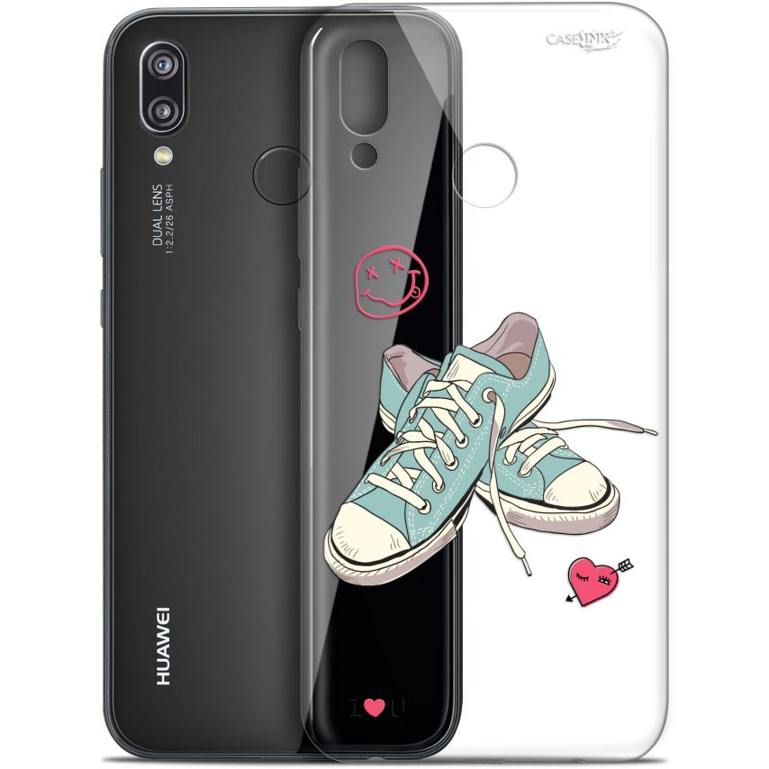 """Coque Gel Huawei P20 Lite (5.84"""") Extra Fine Motif - Mes Sneakers d'Amour"""