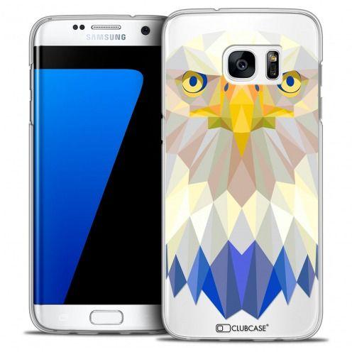 Coque Crystal Galaxy S7 Edge Extra Fine Polygon Animals - Aigle