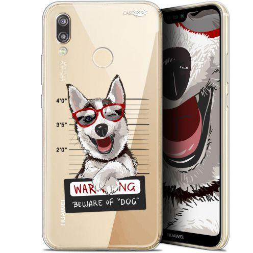 "Coque Gel Huawei P20 Lite (5.84"") Extra Fine Motif -  Beware The Husky Dog"