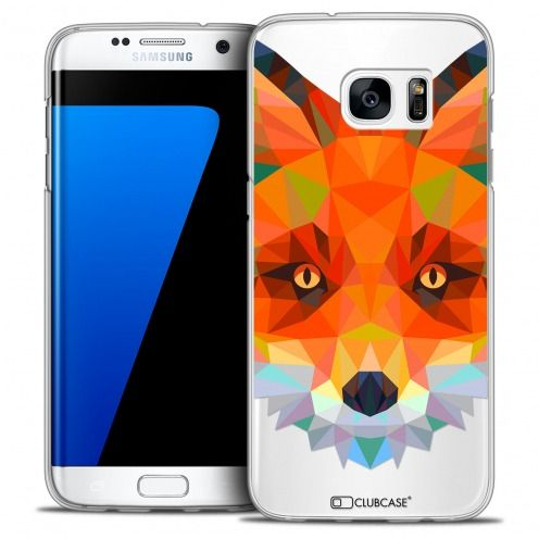 Coque Crystal Galaxy S7 Edge Extra Fine Polygon Animals - Renard