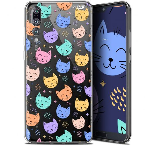 "Coque Gel Huawei P20 Pro (6.1"") Extra Fine Motif -  Chat Dormant"