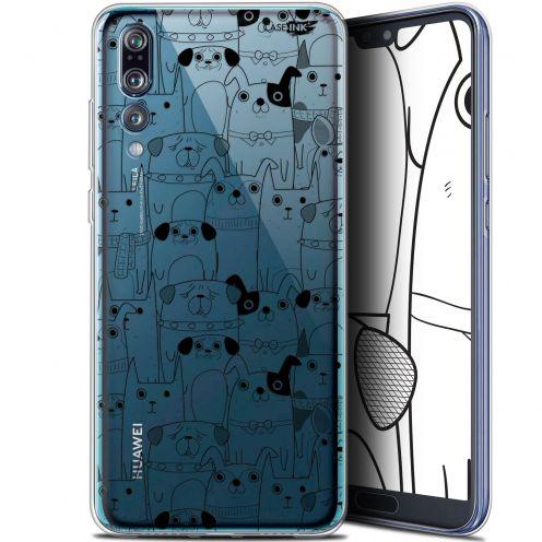 "Coque Gel Huawei P20 Pro (6.1"") Extra Fine Motif - Chien Noir"