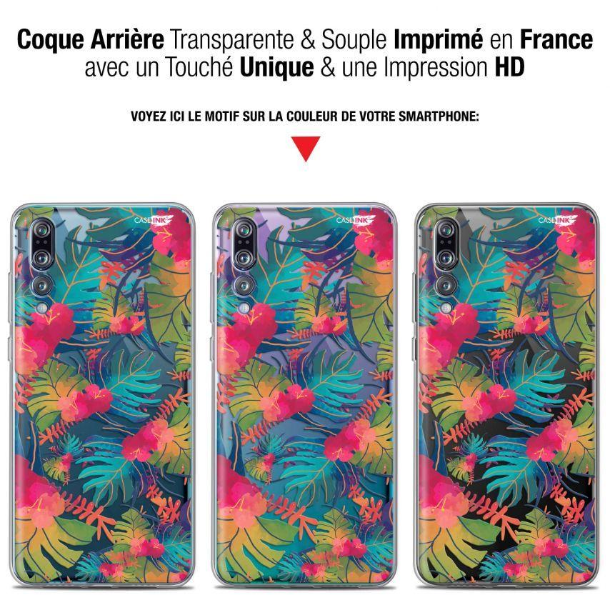 """Coque Gel Huawei P20 Pro (6.1"""") Extra Fine Motif - Couleurs des Tropiques"""