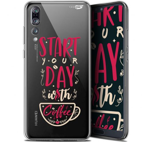 "Coque Gel Huawei P20 Pro (6.1"") Extra Fine Motif -  Start With Coffee"