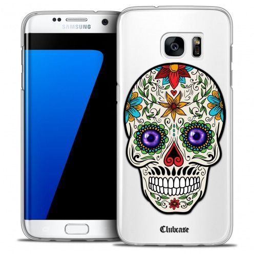 Coque Crystal Galaxy S7 Edge Extra Fine Skull - Maria's Flower